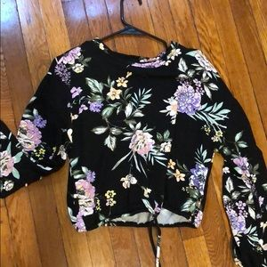 Brand new super soft floral sweater